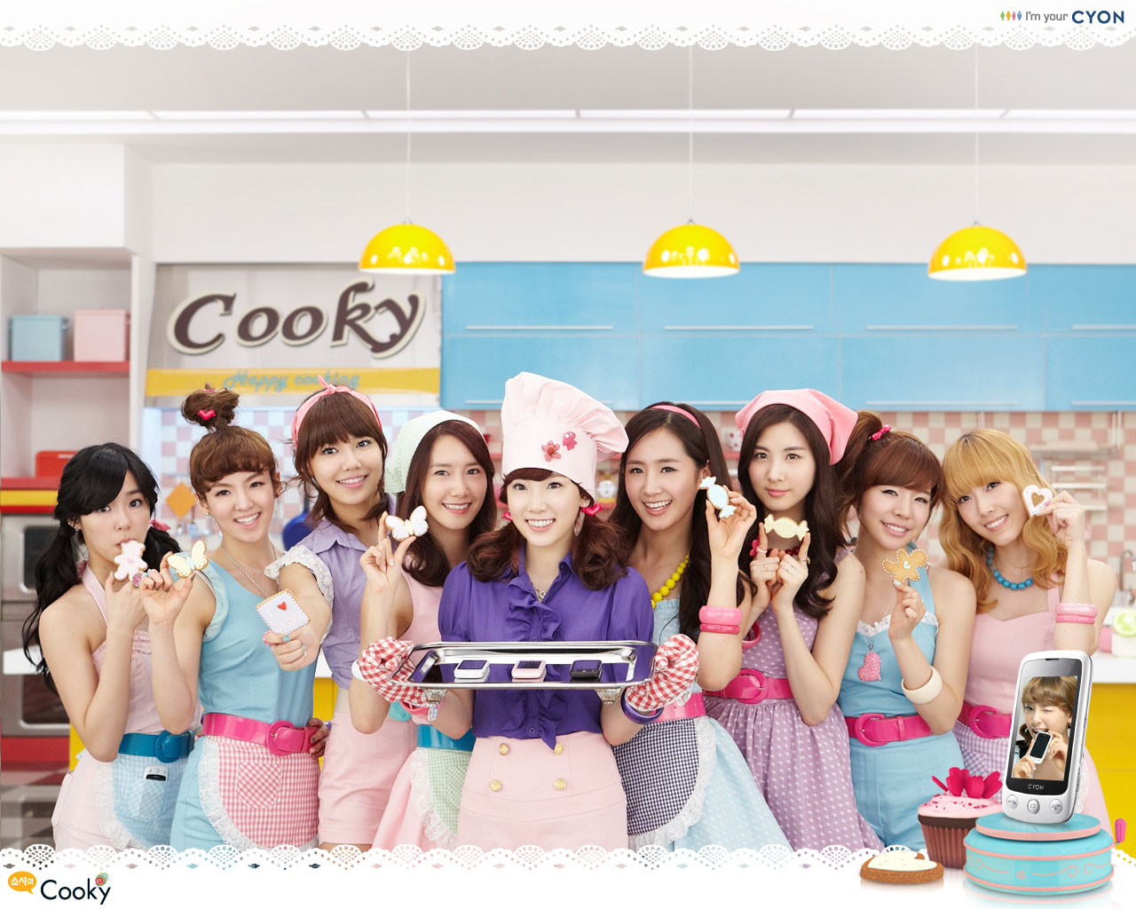 SNSD LG Cyon Cooky wallpapers