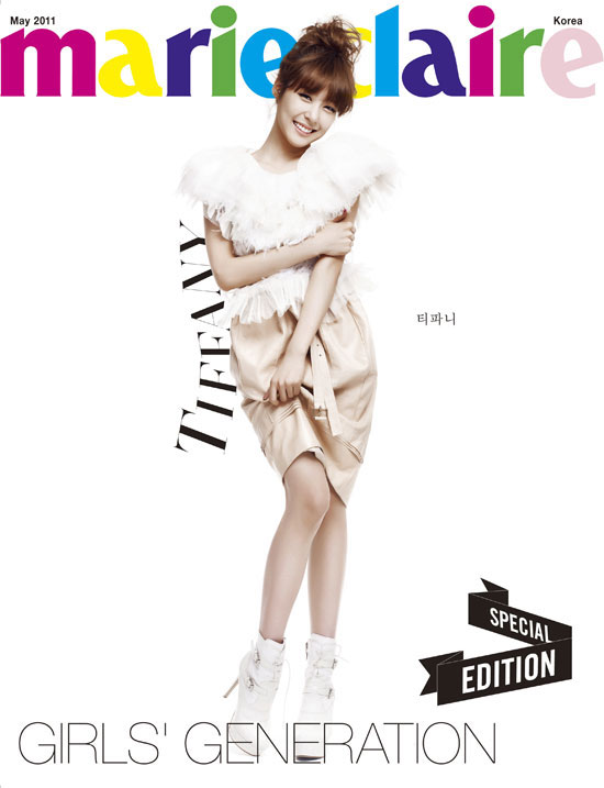 SNSD Tiffany Marie Claire in white
