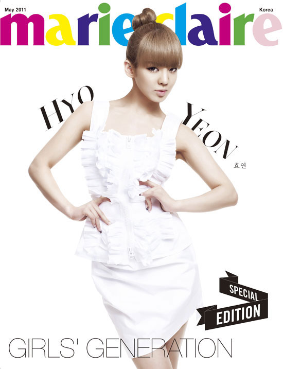 SNSD Hyoyeon Marie Claire in white