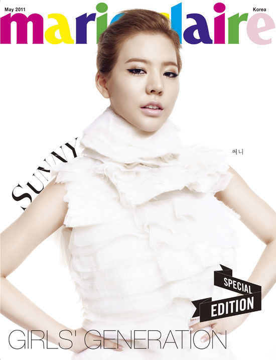 SNSD Sunny Marie Claire in white