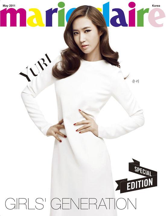 SNSD Yuri Marie Claire in white