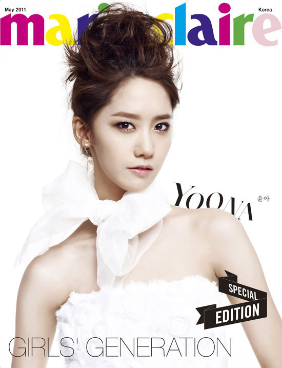 SNSD Yoona Marie Claire in white