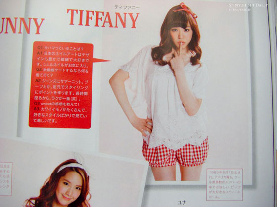 SNSD Tiffany Japan Sweet Magazine