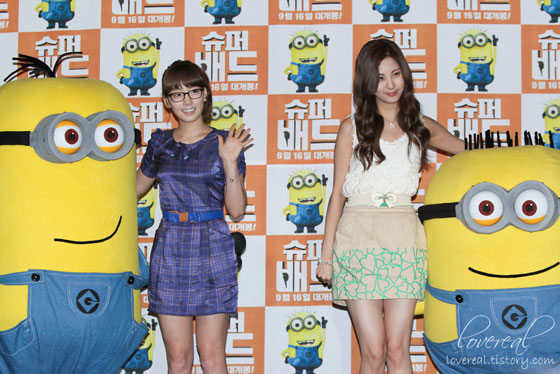 SNSD Taeyeon and Seohyun at Despicable Me press conference