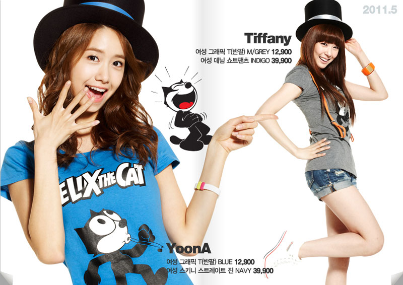 SNSD SPAO fashion and Felix The Cat