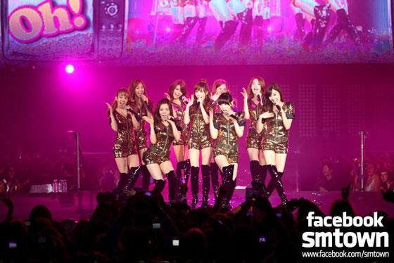 SNSD SMTown Paris Concert 2011