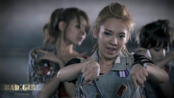 Bad Girl Japanese music video screencap