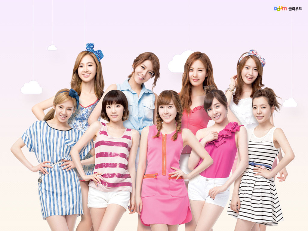 SNSD Daum Cloud computer wallpaper