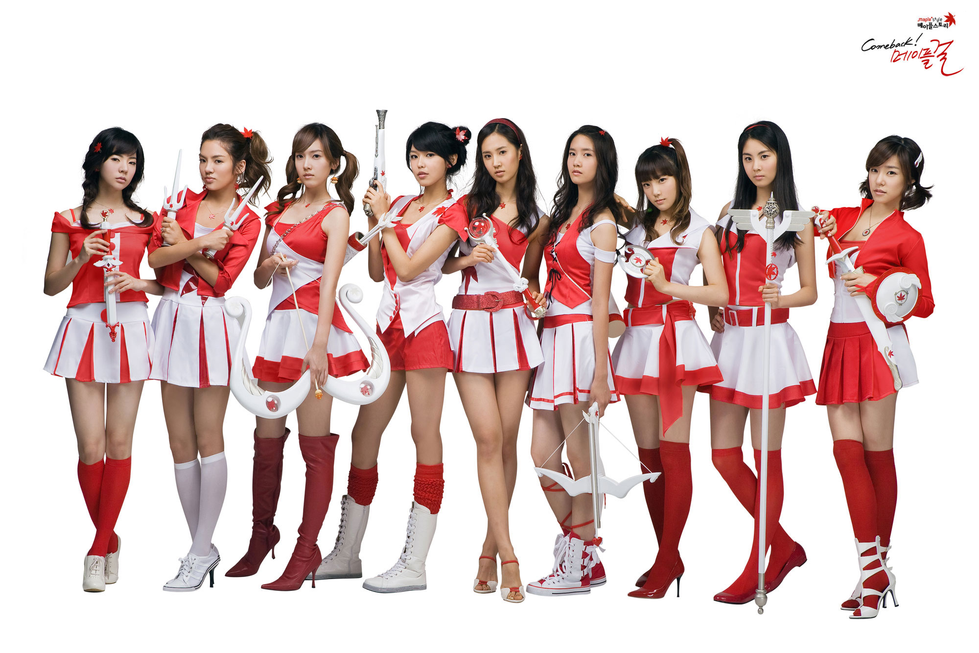 SNSD MapleStory high resolution picture