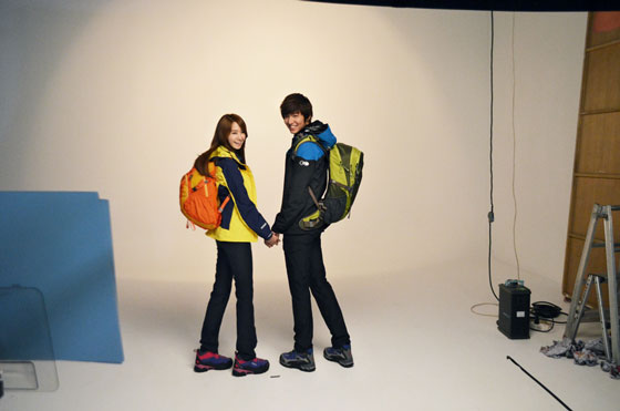 SNSD Yoona and Lee Minho Eider clothings