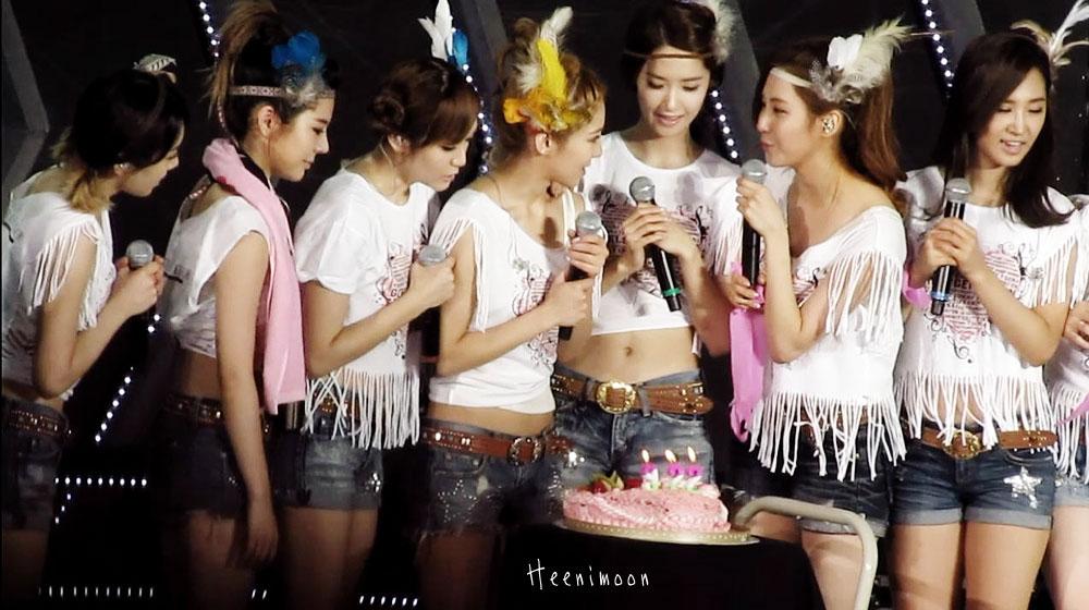 SNSD Hyoyeon birthday at Taiwan concert