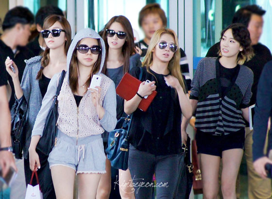 SNSD back from Taiwan Concert
