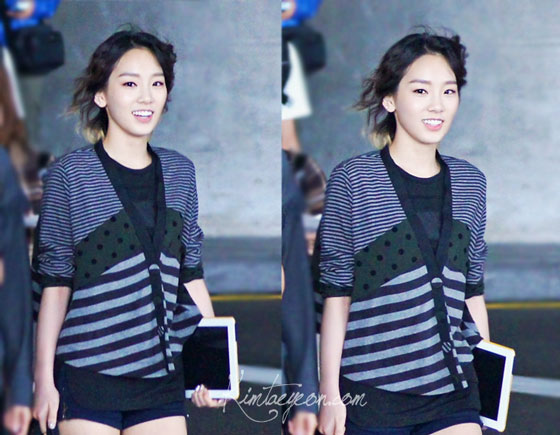 SNSD Taeyeon back from Taiwan