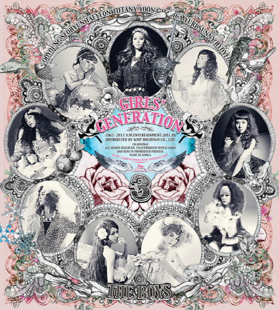 Girls Generation The Boys album cover