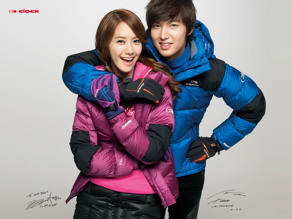 SNSD Yoona and Lee Minho Eider wallpaper