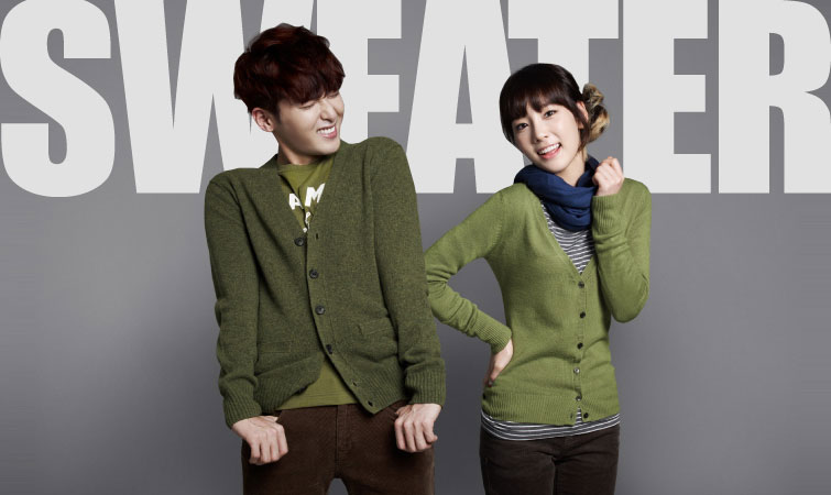 SNSD Taeyeon and Super Junior SPAO sweater