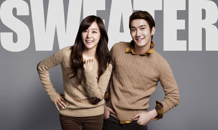SNSD Tiffany and Super Junior SPAO sweater