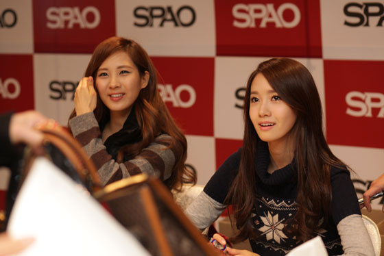 SNSD SPAO fansign in Myeongdong