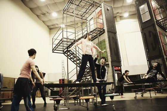 Tiffany Fame rehearsal