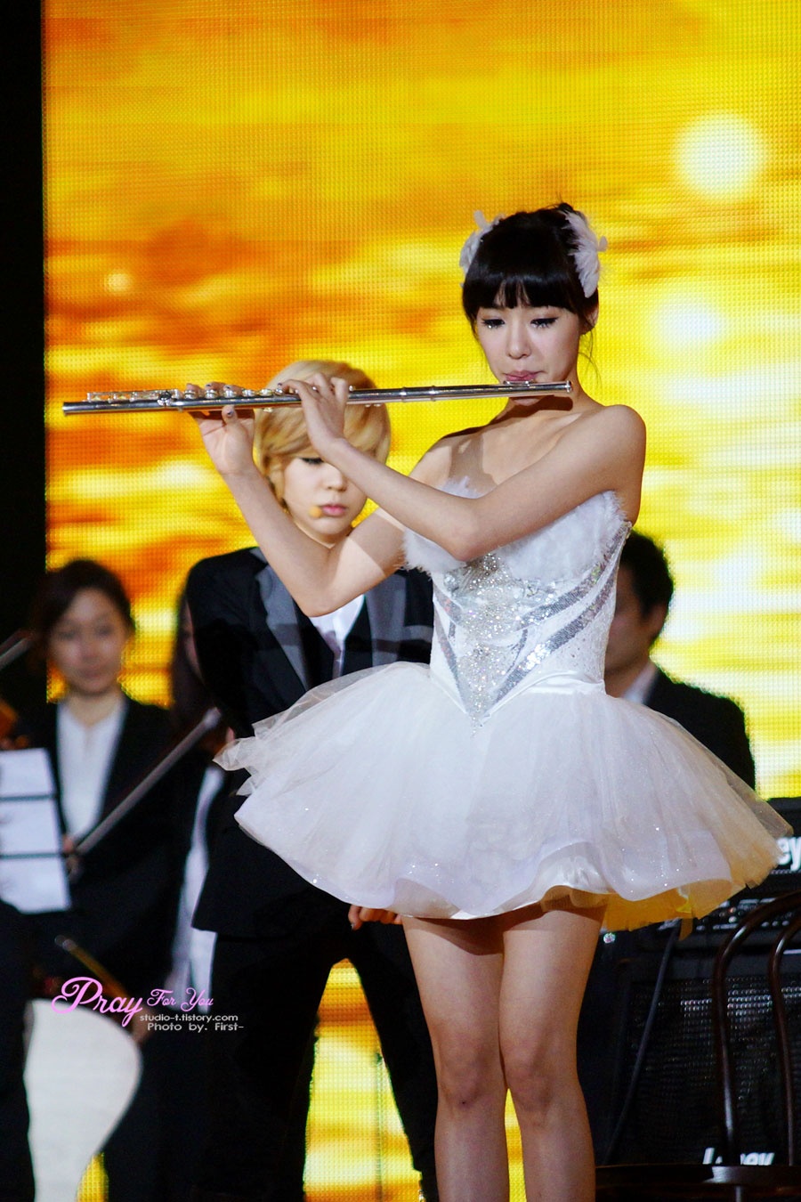 Tiffany plays the flute