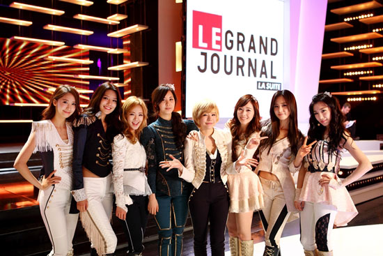 SNSD Le Grand Journal French talk show