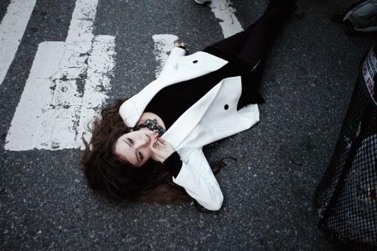 BTS of Jessica NYC photoshoot