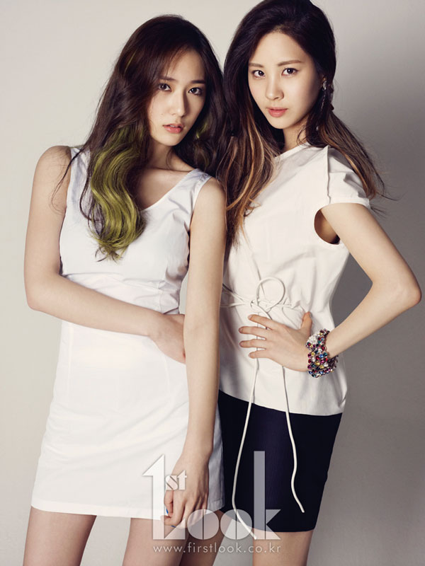 SNSD Seohyun and fx Krystal 1st Look