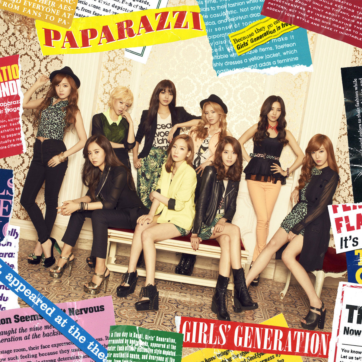 SNSD Paparazzi Japan regular album jacket