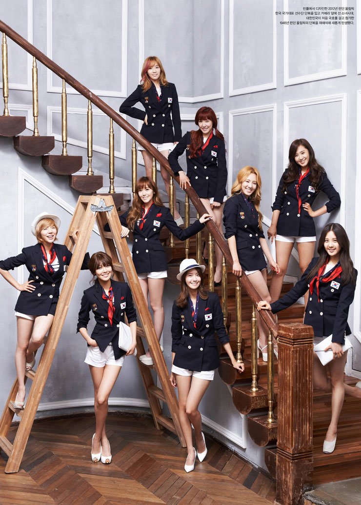SNSD members Korean Olympic Girls