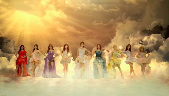 SNSD members LG 3D TV commercial
