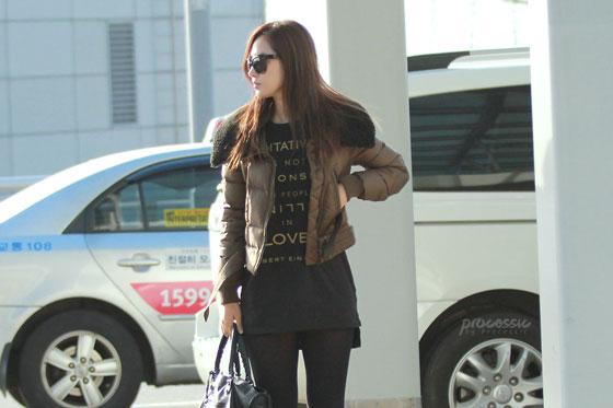 SNSD Yuri Korean Incheon Airport