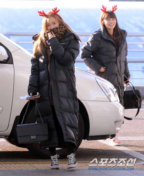 Snsd Jessica Incheon Airport Christmas fashion