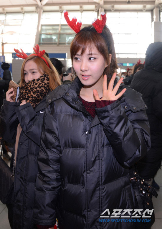 Snsd Seohyun Incheon Airport Christmas fashion