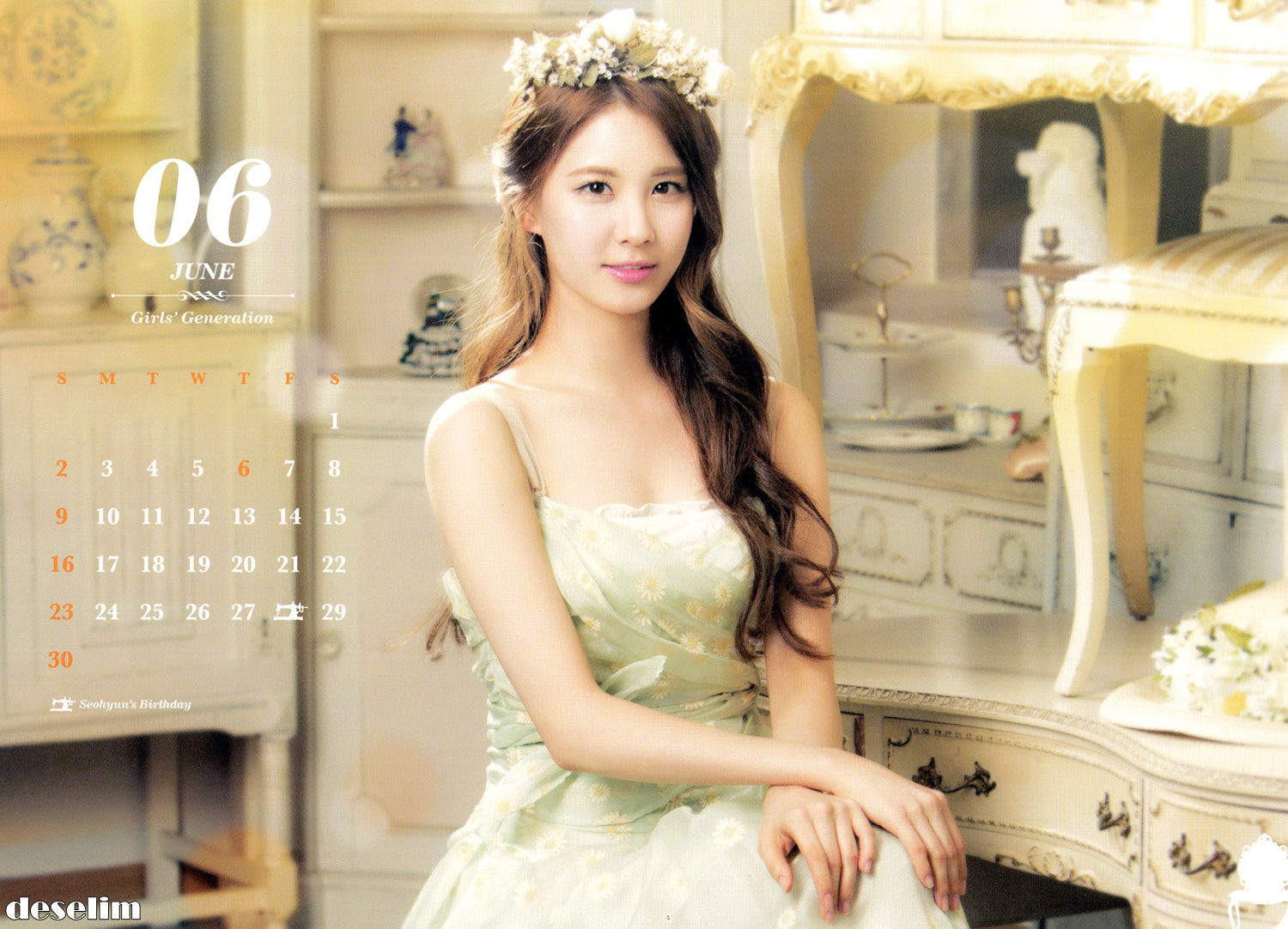 SNSD's 2013 calendar scans. Click pics for full size (~1500×1000).