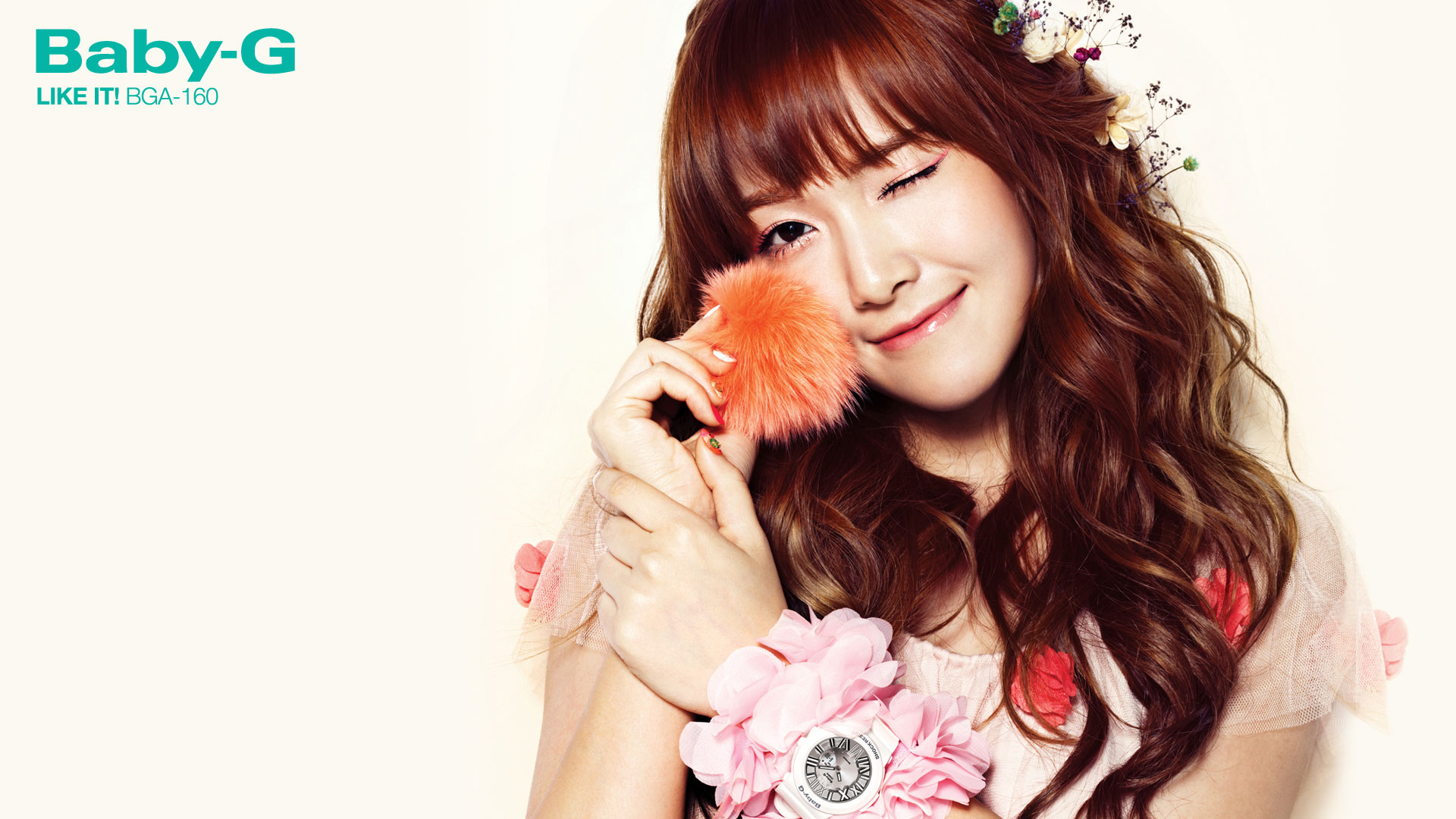 Snsd Jessica Casio Baby G wallpaper