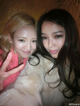 Snsd Hyoyeon and Chinese model Elissa Lai