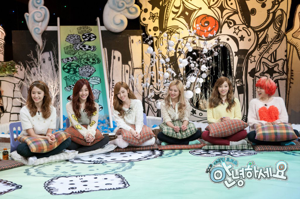 SNSD members KBS Hello Concelor