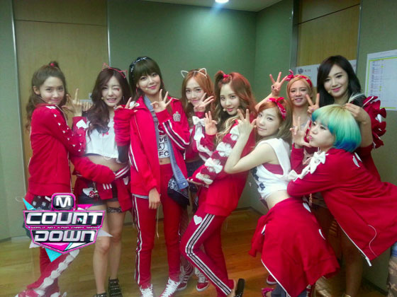 Snsd Mnet Countdown backstage