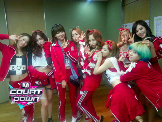 Mnet Countdown backstage 130124