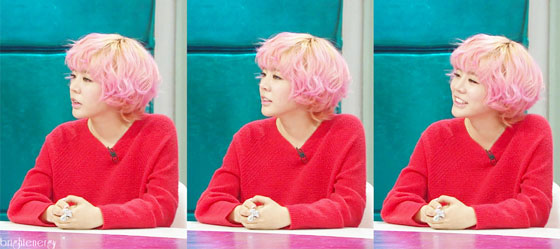 Snsd Sunny Golden Fishery pink hair