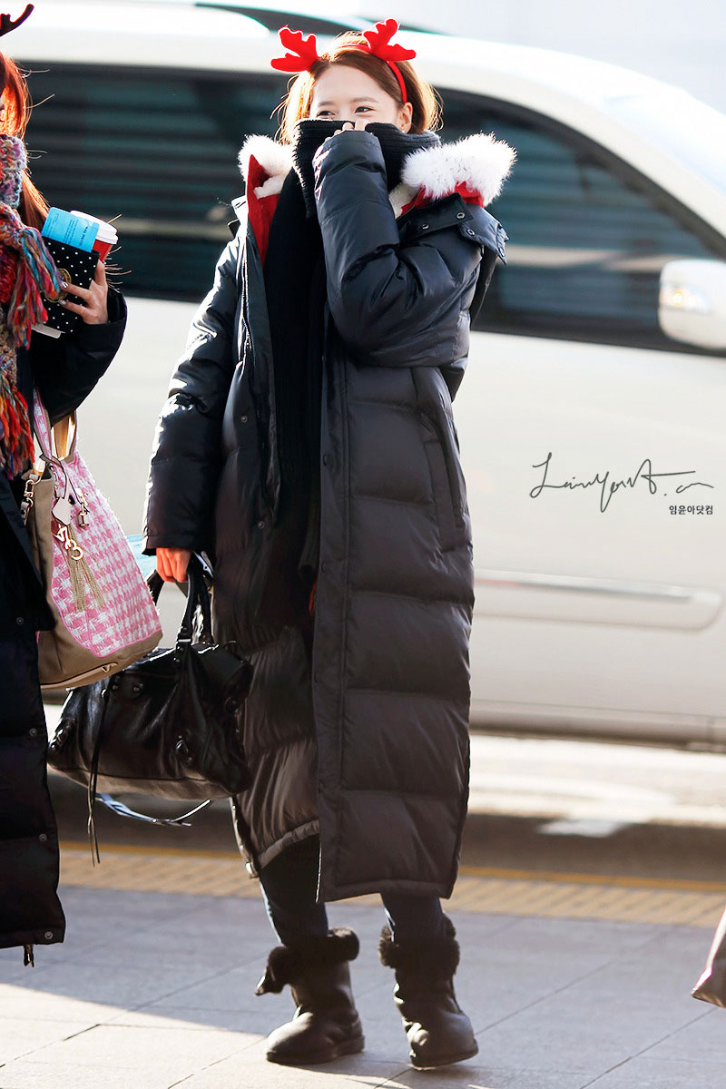 Snsd Yoona Christmas airport fashion