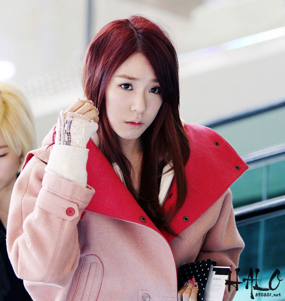 Snsd Tiffany Gimpo Airport pink fashion