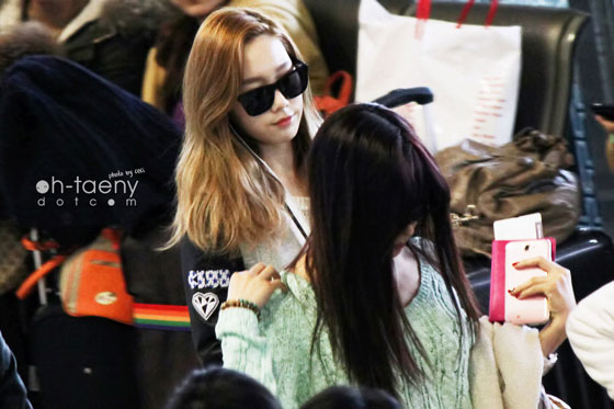 SNSD Taeyeon Tiffany Airport style