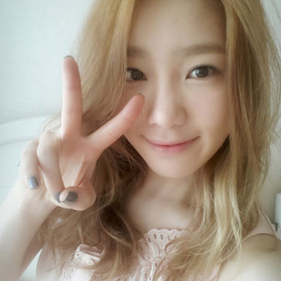 Taeyeon beautiful Instagram selca