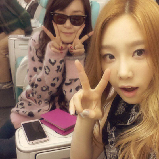 Snsd Taeyeon and pink gangsta Tiffany