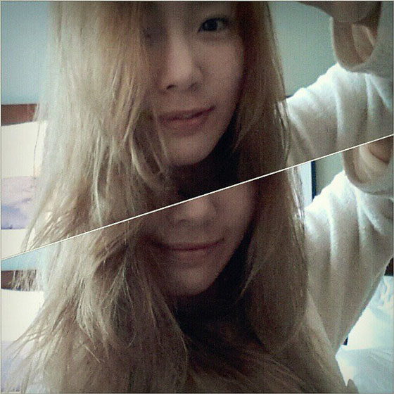 Taeyeon morning Instagram selca