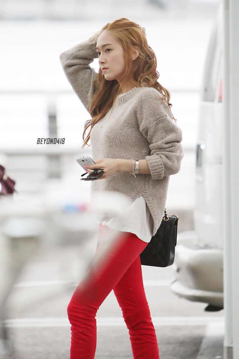 Jessica Incheon Airport 130408 Snsd Pics