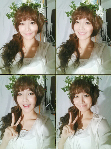 SNSD Sooyoung flower selca