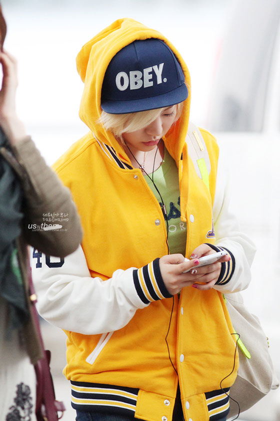 SNSD Sunny Incheon Airport fashion