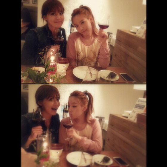 SNSD Taeyeon Sooyoung Instagram selca